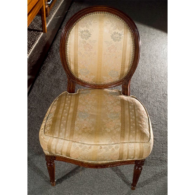 French Jansen Louis XVI Boudoir Chairs - Pair For Sale - Image 3 of 7