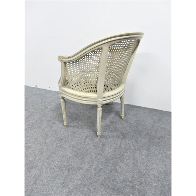Louis XVI Louis XVI Cream Caned Leopard Side Chair For Sale - Image 3 of 5