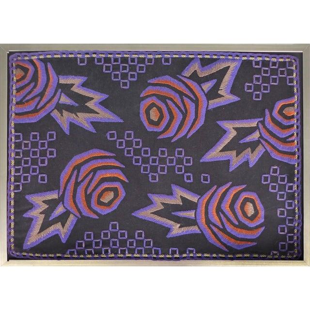 1930s Vintage Framed American Art Deco Tapestry For Sale