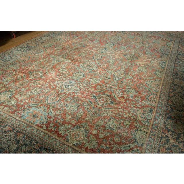 "Vintage Distressed Mahal Carpet - 10'8"" x 13'8"" - Image 2 of 10"