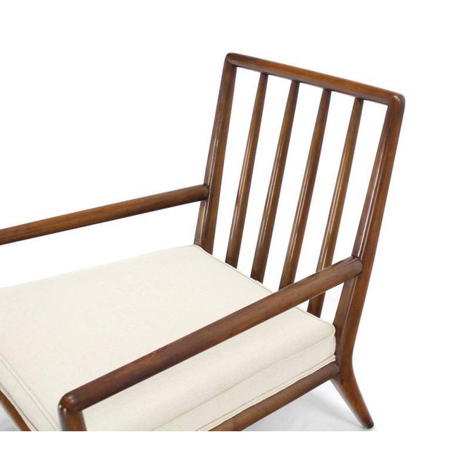 Newly Upholstered Gibbings Lounge Arm Chair For Sale In New York - Image 6 of 8