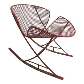 Maurizio Tempestini for Salterini Patio Rocking Lounge Chair For Sale
