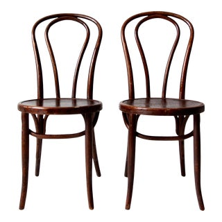 Antique Sheboygan Chair Company Bentwood Chairs Pair For Sale