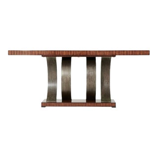 Theodore Alexander Inward Curve Modern Designer Console Table For Sale