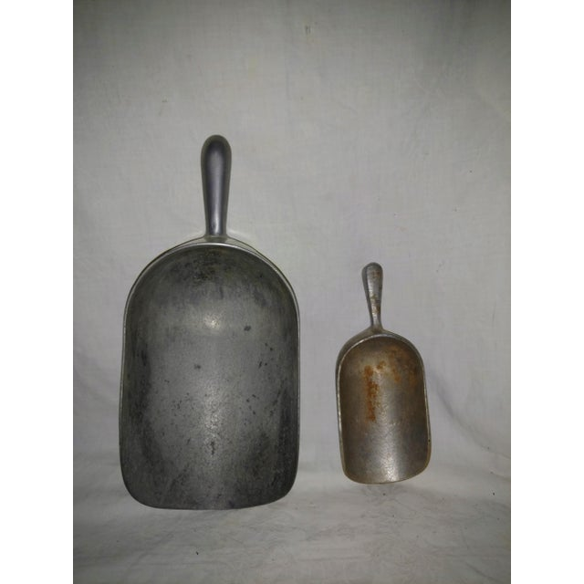 Rustic Vintage 1940's Farm Scoops - A Pair For Sale - Image 3 of 6