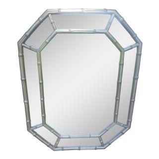 Faux Bamboo Octagonal Wall Mirror