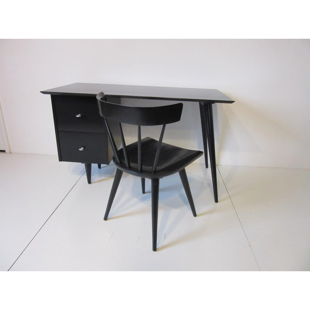 Paul McCobb Black Maple Desk W/ Chair From the Planner Group For Sale - Image 9 of 10