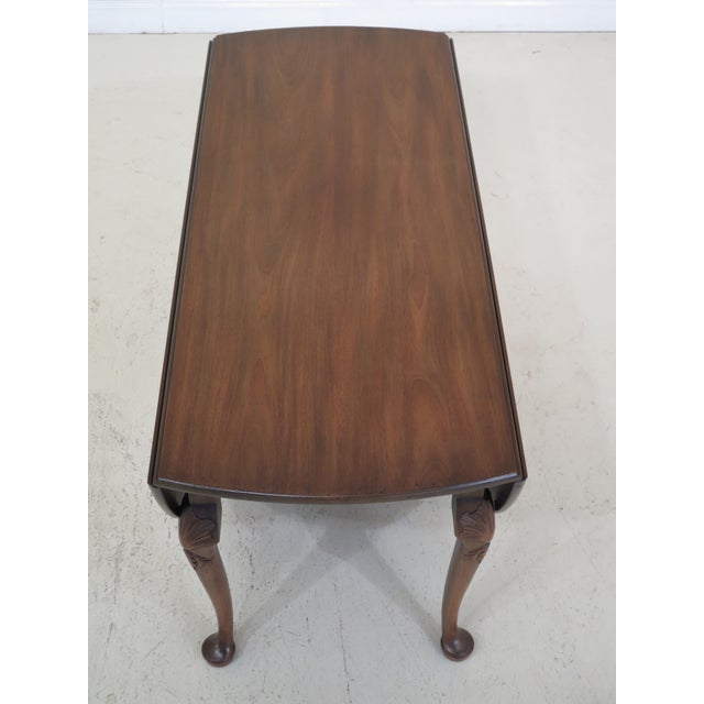 1960s Queen Anne Kittinger Colonial Williamsburg Mahogany Drop Leaf Table For Sale In Philadelphia - Image 6 of 13