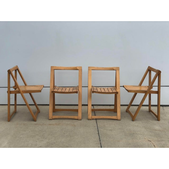 Danish Modern Mid Century Modern Danish Folding Chairs- Set of 4 For Sale - Image 3 of 10