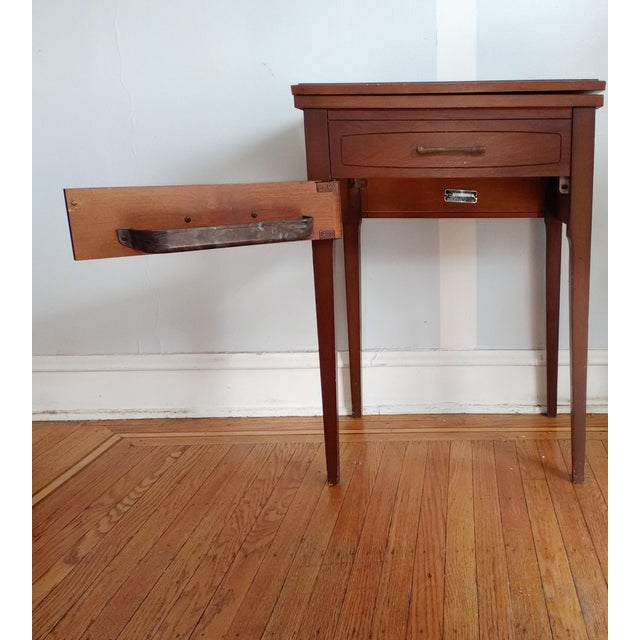 1950s Industrial Sears Roebuck Wood Sewing Machine Cabinet Chairish