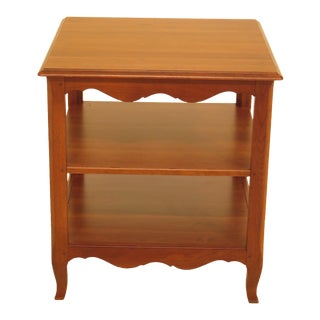 Ethan Allen Country French Cherry Tiered End Table