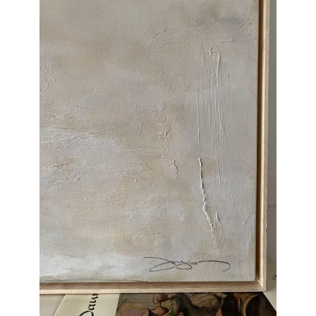 "Antique White Josh Young Design House ""Place De La Bastille"" Painting. Framed. For Sale - Image 8 of 10"