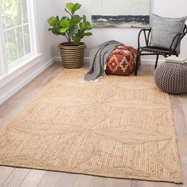 2010s Jaipur Living Abel Geometric Beige Runner Rug - 2′6″ × 9′ For Sale - Image 5 of 6