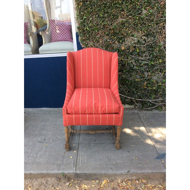 Traditional Red Side Chairs - A Pair For Sale - Image 3 of 9