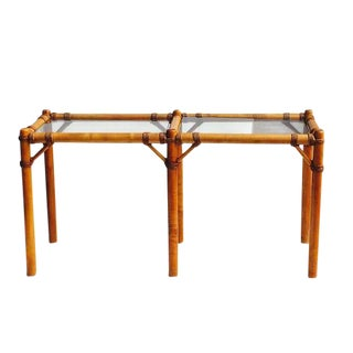 Mid Century Modern Sofa Table / Console Table Palm Beach Regency For Sale