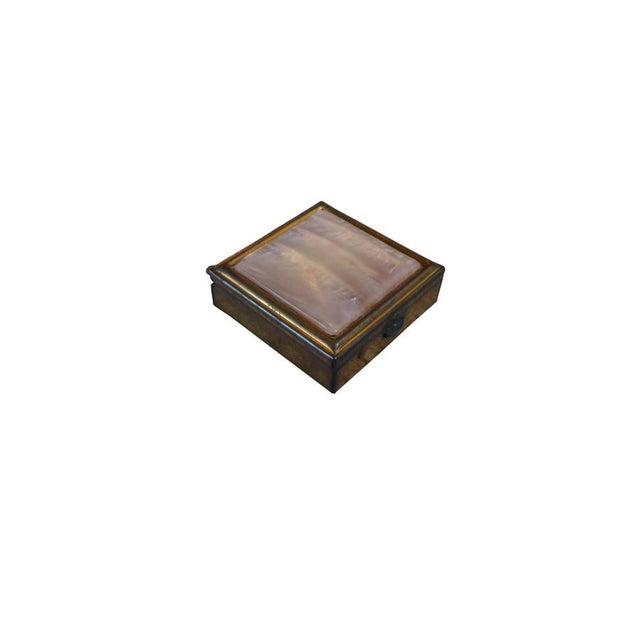 Vintage Brass & Mother of Pearl Pill Box - Image 2 of 4