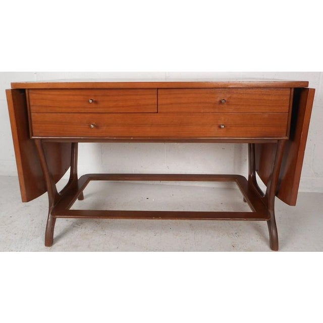 Mid-Century Modern RWAY Mid-Century Modern Drop-Leaf Console Table For Sale - Image 3 of 11