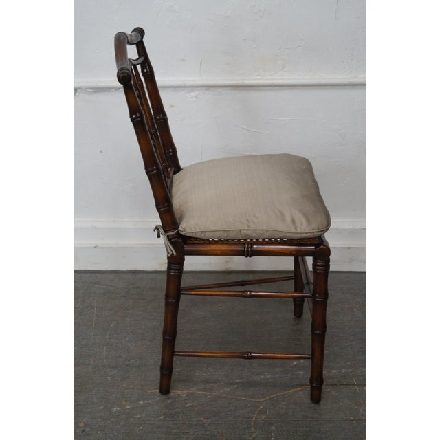 Faux Bamboo & Cane Side Chair - Image 4 of 11