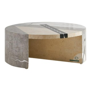 Stone and Marble Inlay Coffee Table by Tavola Oggetti For Sale