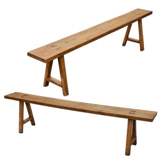 Pair of French Country Benches For Sale
