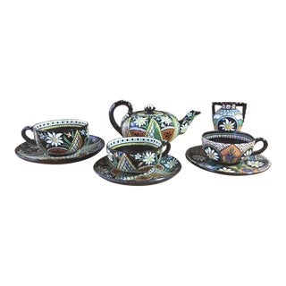 Late 1800s Thoune Pottery Collection - Set of 9 Pieces For Sale