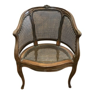 Antique French Carved Cane Chair
