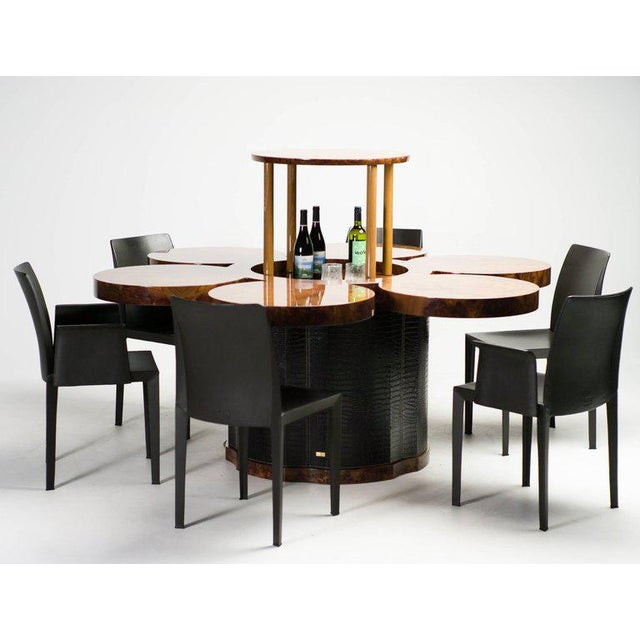 Black Unique Formitalia Burl Walnut Dining Table with Built-in Lift For Sale - Image 8 of 9