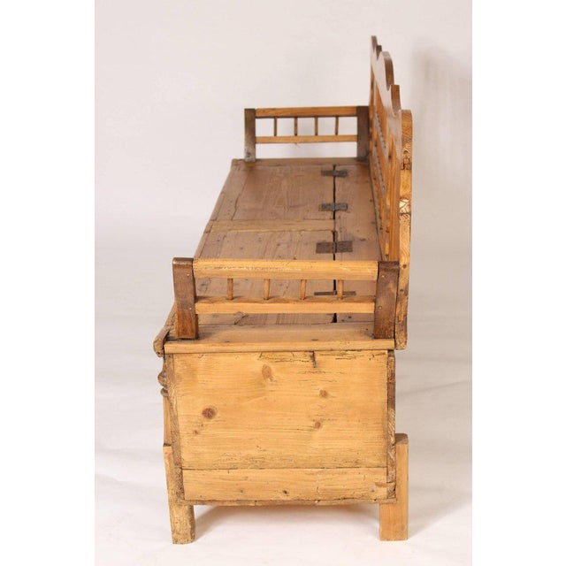 Continental Pine Settle Bench - Image 6 of 11