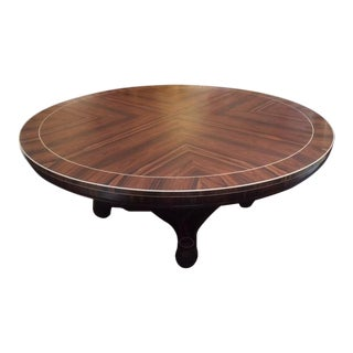 Nancy Corzine Regency Style Macassar Round Dining Table For Sale