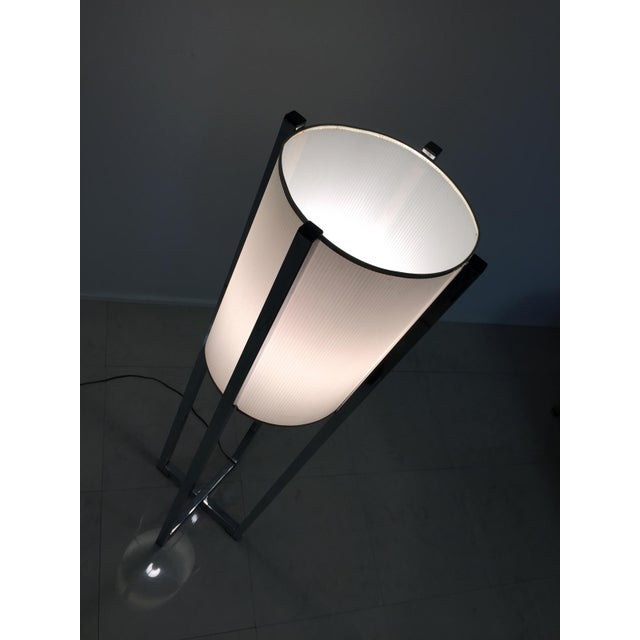 Vintage Chrome Drum Shade Floor Lamp For Sale - Image 7 of 7