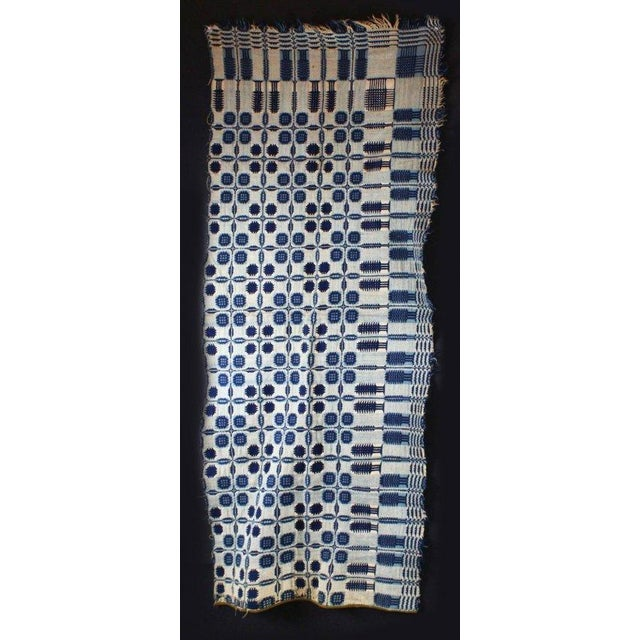 One of a kind rare coverlet that was exhibited in the 1936 Dover Day festival. Three pieces total. The pieces showcase a...