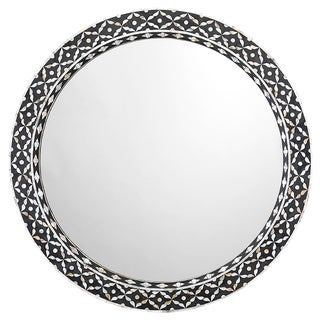 "Jamie Young Evelyn Mother of Pearl 36"" Round Wall Mirror"