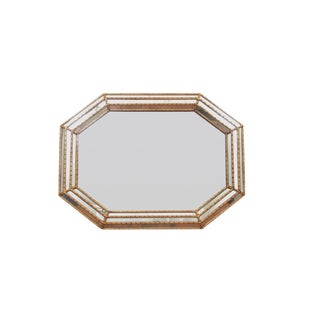 La Barge Faux Bamboo Octagonal Wall Mirror For Sale