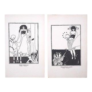 Vintage Art Nouveau Lithographs--Aubrey Beardsley-A Pair For Sale