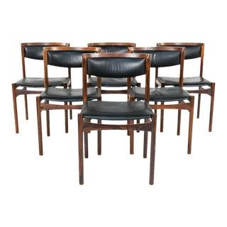 Six Mid-Century Modern Danish Dining Chairs, Soro Stolefabrik Denmark, Rosewood For Sale