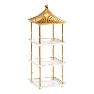 Contemporary Gold Pagoda Shelf For Sale