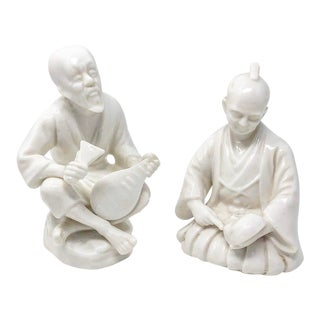 Pair of Mid- Century Asian Blanc De Chine Style Couple For Sale