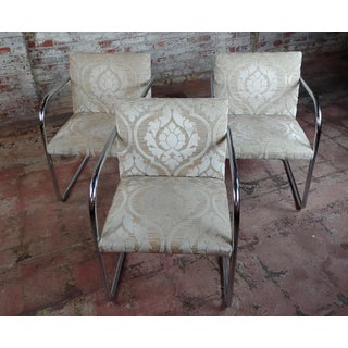 Mies Van Der Rohe Vintage Chrome Arm Chairs - Set of 4 Preview