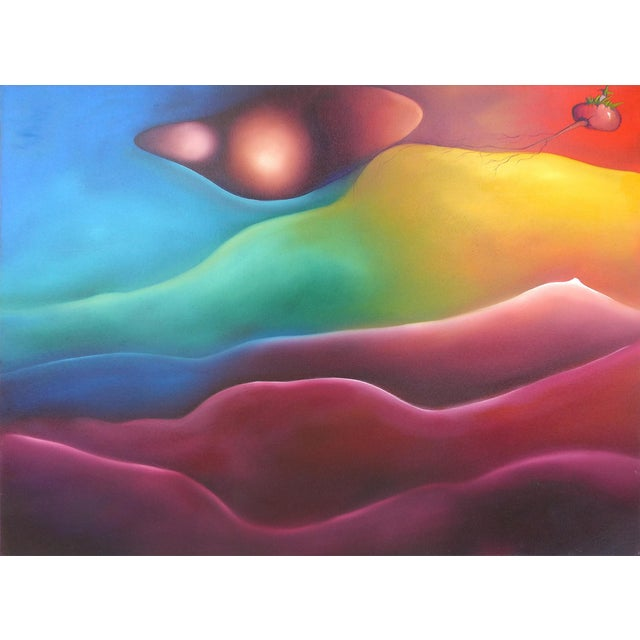 Abstract Oil on Canvas by Cuban-American Artist Juan Navarrete - Image 1 of 8