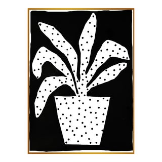"XL ""Polkadot Plant"" Print by Kate Roebuck, 45"" X 61"" For Sale"