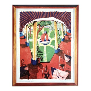 David Hockney 'Views of Hotel Well Iii' 1986 Hand Signed Original Pop Art Poster For Sale