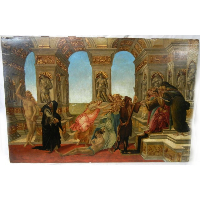 18th Century Antique Italian Renaissance Calumny of Apelles After Sandro Botticelli Print For Sale - Image 13 of 13