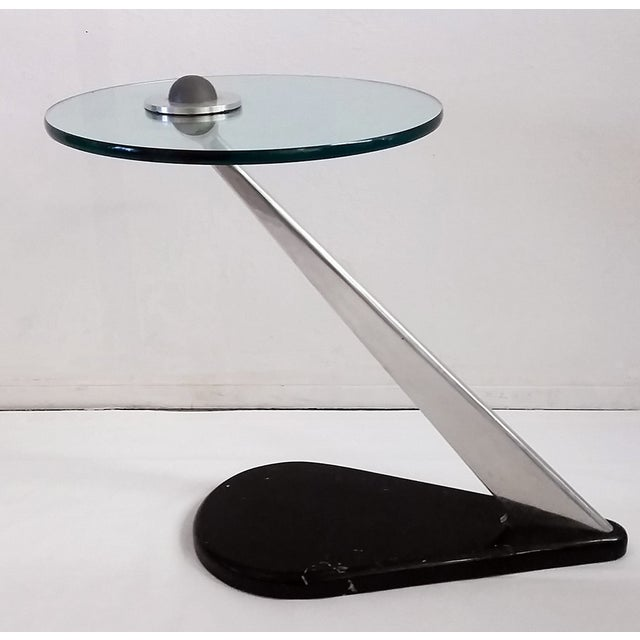 Vladimir Kagan Style Sculptural Side Table - Image 4 of 7