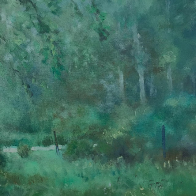 "Contemporary Thomas McNickle ""Elm in the Rain"" Contemporary Traditional Landscape Oil Painting For Sale - Image 3 of 10"