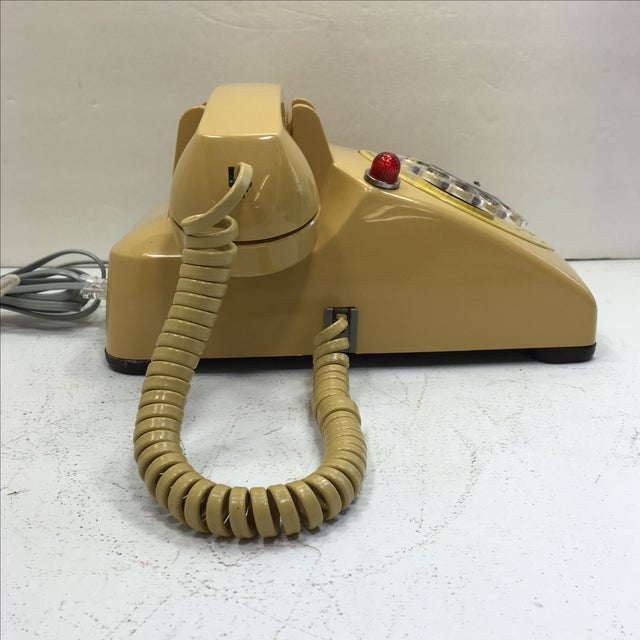Yellow 500 Rotary Dial Desk Phone With Light - Image 4 of 11