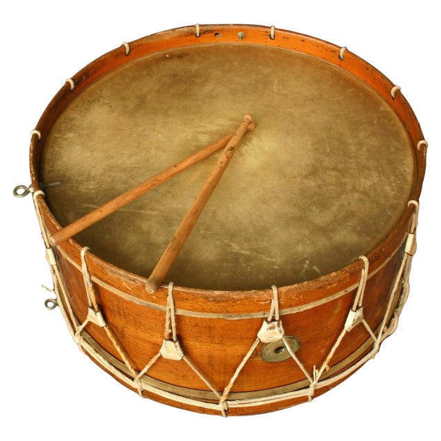 Antique Wooden Drum From Belgium - Image 1 of 5