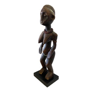"""Old African Senufo Maternity Sculpture 28"""" H.5 For Sale"""
