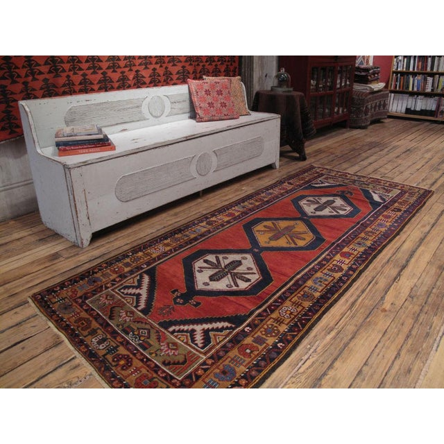 A very beautiful old Anatolian rug, in the typical long format. Great, saturated colors, graceful proportions. Lovely...