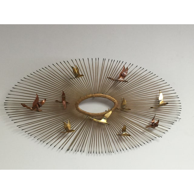 Curtis Jere Style Wall Hanging Sunburst Sculpture - Image 2 of 5