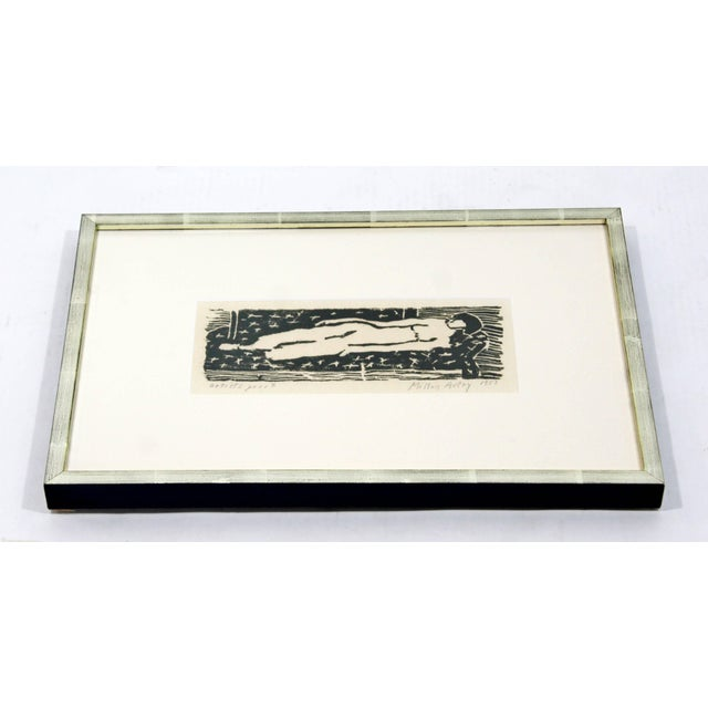 For your consideration is an artist proof, woodcut print that is framed, and signed and dated by Milton Avery, 1953. In...